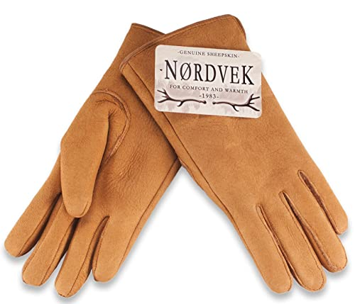 Nordvek - Guantes suaves de ante para mujer - Forro de piel de oveja - #319-100