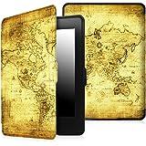 Fintie Etui Kindle Paperwhite - étui Flip super fin et léger, fermeture magnétique avec mise en veille automatique pour Amazon All-New Kindle Paperwhite (Convient à touts les versions: 2012, 2013 et 2015 New 300 PPI) - Ancient Map