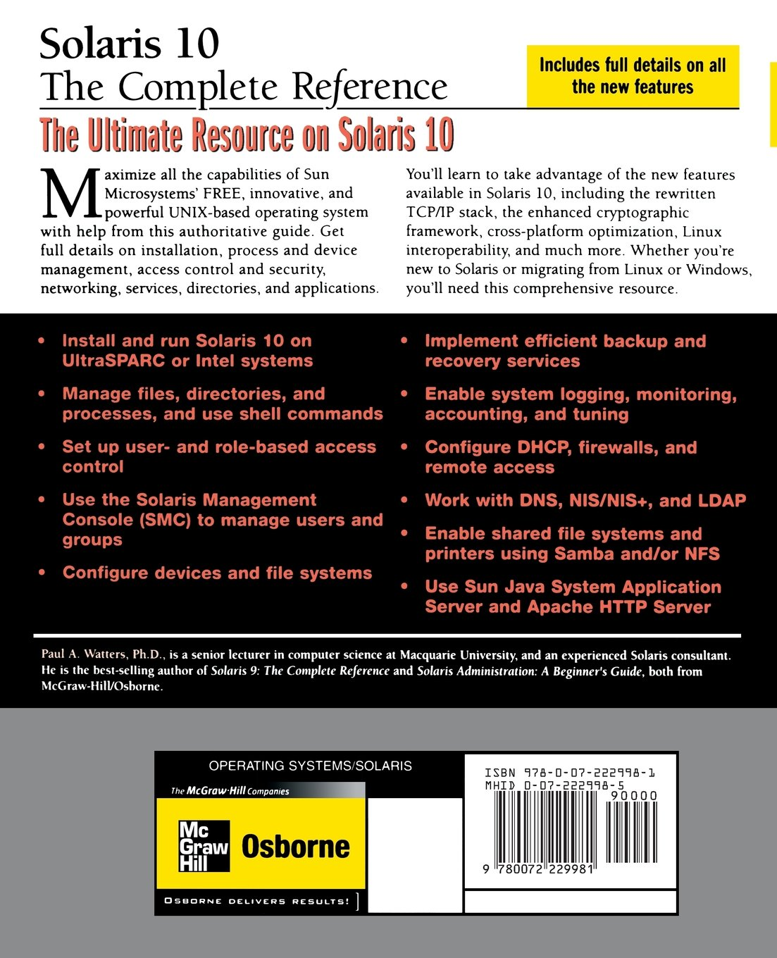 Solaris 10 The Complete Reference (Osborne Complete