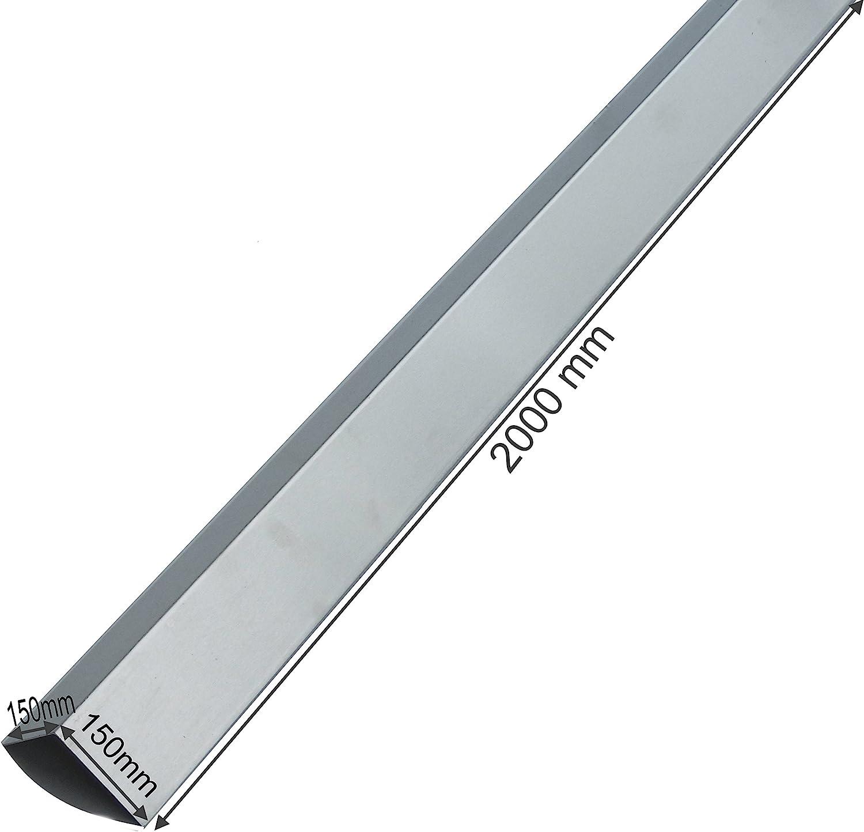 Winkel  Aluminium Kantenschutz Abschlussblech Dachblech  Leiste Farbig Kantblech