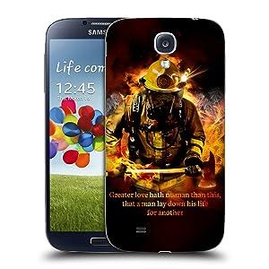Official Jason Bullard Fireman 2 Firefighter Replacement Battery Cover for Samsung Galaxy S4 I9500