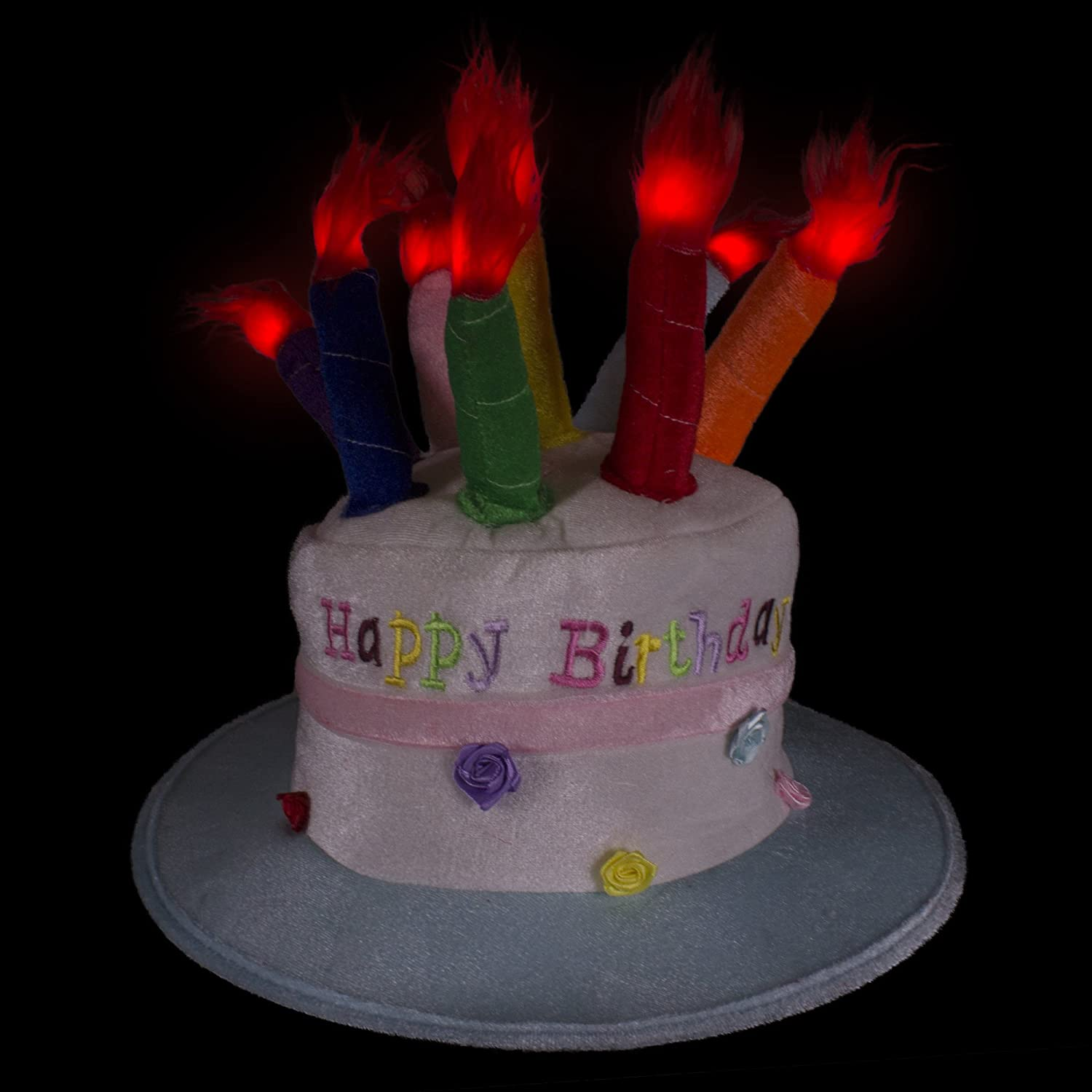 Led Happy Birthday Cake Hat With Light Up Candles For Kids Toys Games Jpg 1500x1500 Battery