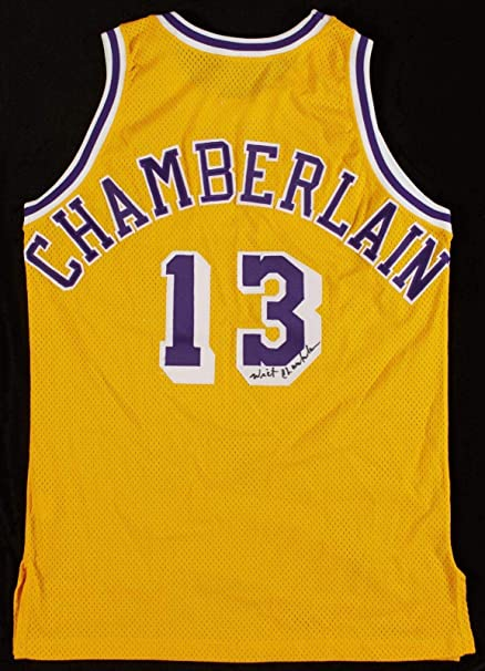 Wilt Chamberlain Signed 1992-93 Game Issued Los Angeles Lakers Jersey COA -  JSA Certified 6c201193e