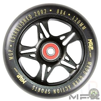 Madd Gear MFX - Ruedas de Metal para Patinete de 120 mm, Color Negro y Dorado (par): Amazon.es: Deportes y aire libre