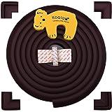 Kit de seguridad de protectores para bordes con 4x acolchados para esquinas que cubren 4.4 metros, Tope de puerta incluído / Protecciones para esquinas puntiagudas o bordes peligrosos para minimizar los accidentes / Acolchados de espuma para la seguridad de la casa / Pensado para la sonrisa feliz de los niños