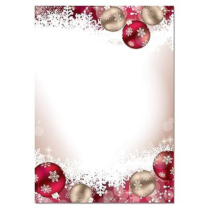 Image De Lettre De Noel.Sigel Dp041 Papier A Lettre De Noel Boules De Noel 21 X 29