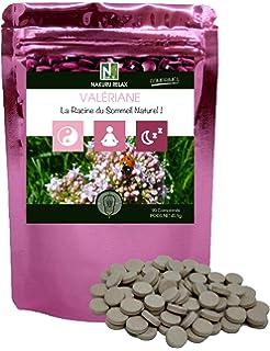 Valeriana | 90 comprimidos de 510 mg | NAKURU Relax | Polvo Orgánico Secado y Comprimido