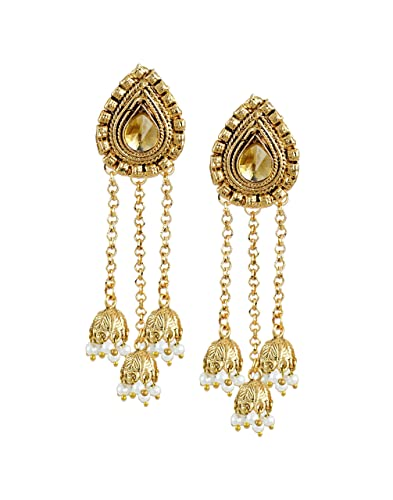 b912bfcb6cb Buy Zaveri Pearls Beautiful Trendy Beaded Jhumki Drop Earring for  Women-ZPFK6327 Online at Low Prices in India