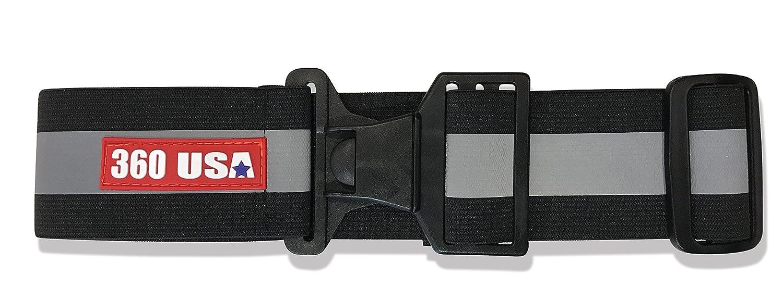 360Usa Inc. reflectante cinturón–cinturón de PT reflectante, color negro 360 USA Inc