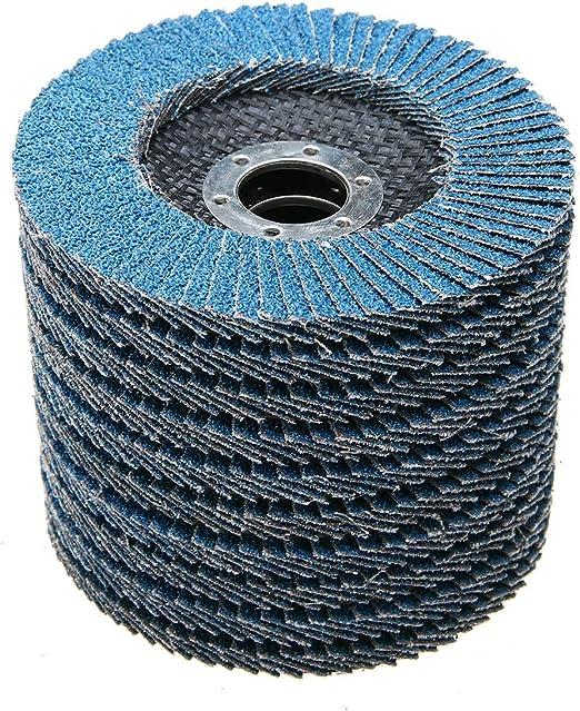 """50PCS PREMIUM BLUE ZIRCONIA FLAP DISC SANDING GRINDING 4-1//2/"""" X 7//8/""""  40 GRIT"""