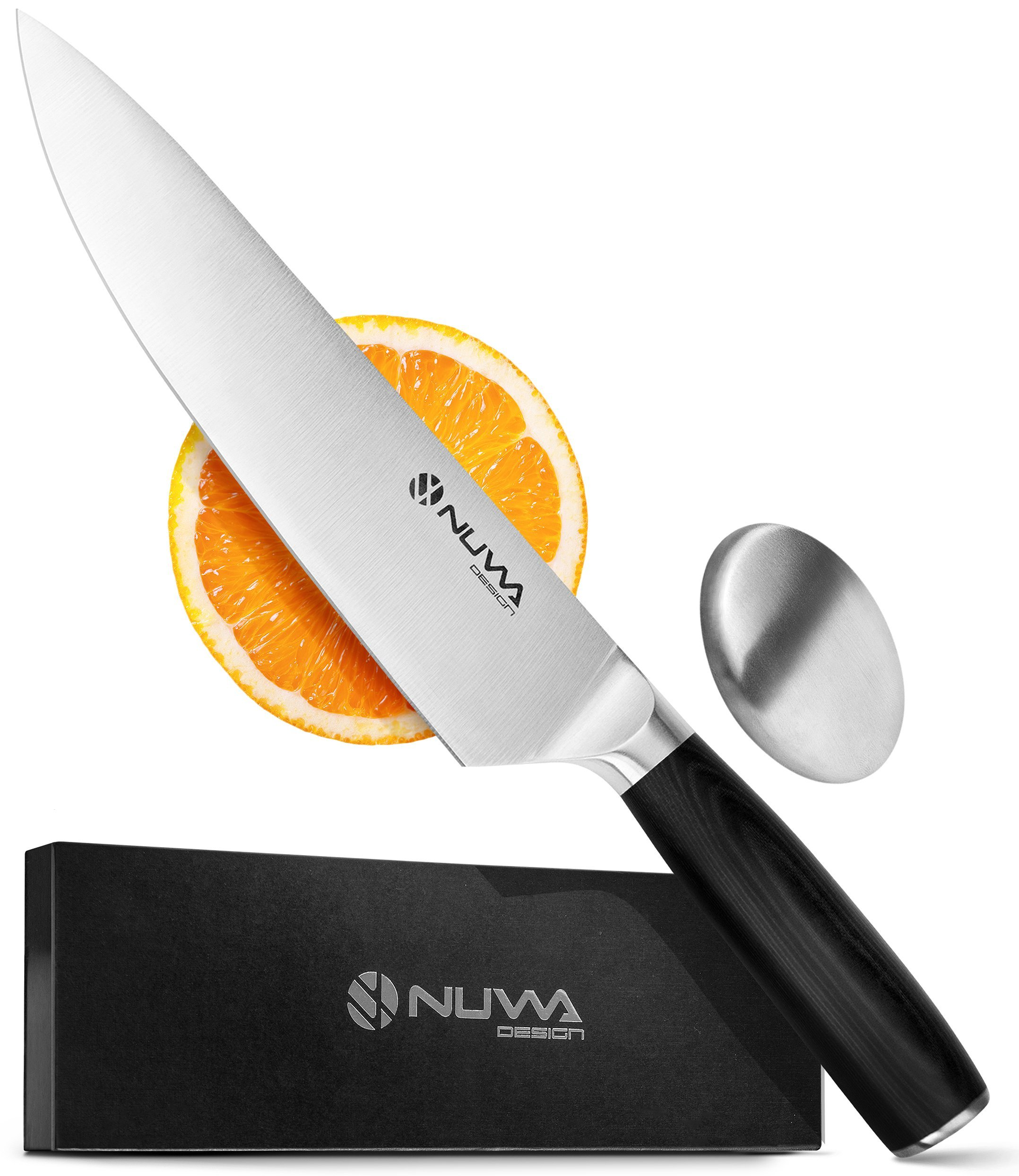 Nuwa Design 8 Inch Chef Knife High Carbon Stainless Steel Blade - Sharp Kitchen Knife for Chopping