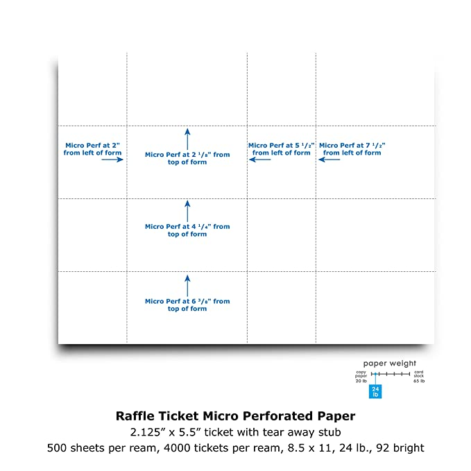 amazon com printworks perforated paper for raffle tickets coupons
