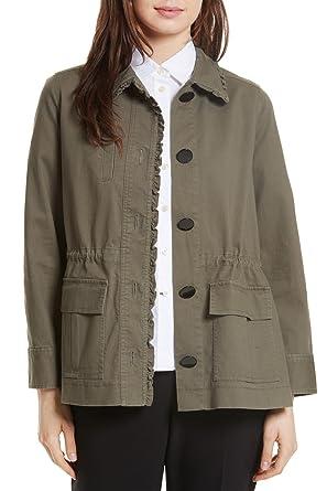 91d242c9287f Amazon.com: Kate Spade New York Women's Ruffle Military Jacket ...