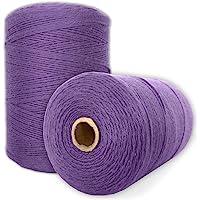 Durable Loom Warp Thread (Amethyst), 8/4 Warp Yarn (800 Yards), Perfect for Weaving: Carpet, Tapestry, Rug, Blanket or…