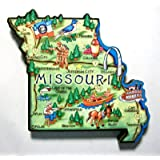 Missouri the Show Me State Artwood Jumbo Fridge Magnet