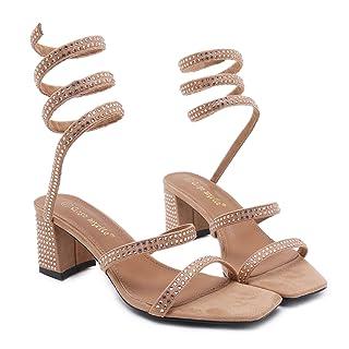 RUGAI-UE Scarpe estive, Scarpe Singole, Dita della Moda Europea e Americana con Tacchi Grezzi