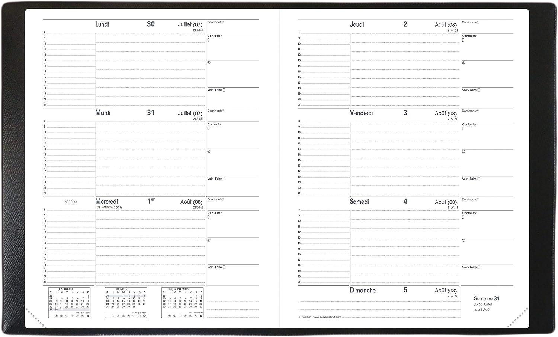 2021-8.8 x 17 cm Quo Vadis 1 Agenda Planing SILMA Rouge Corail Janv /à D/éc