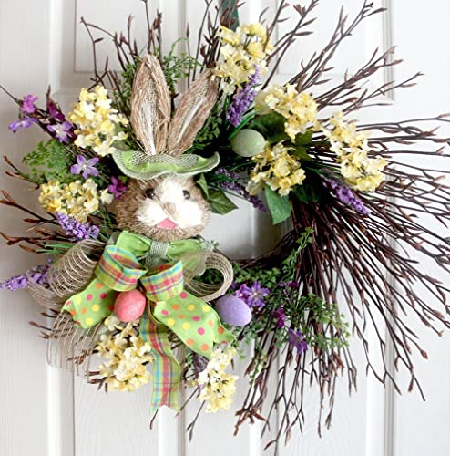 exra large easter wreath spring wreaths easter decoration front door wreaths bunny - Easter Wreaths