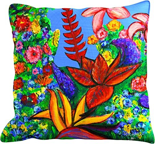 Decorative Throw Pillow Cushion Cover for Couch, Bed, Sofa or Patio 20×20 – Hawaii Home Decor – Hawaiianl Flowers – Kauai – Michal art