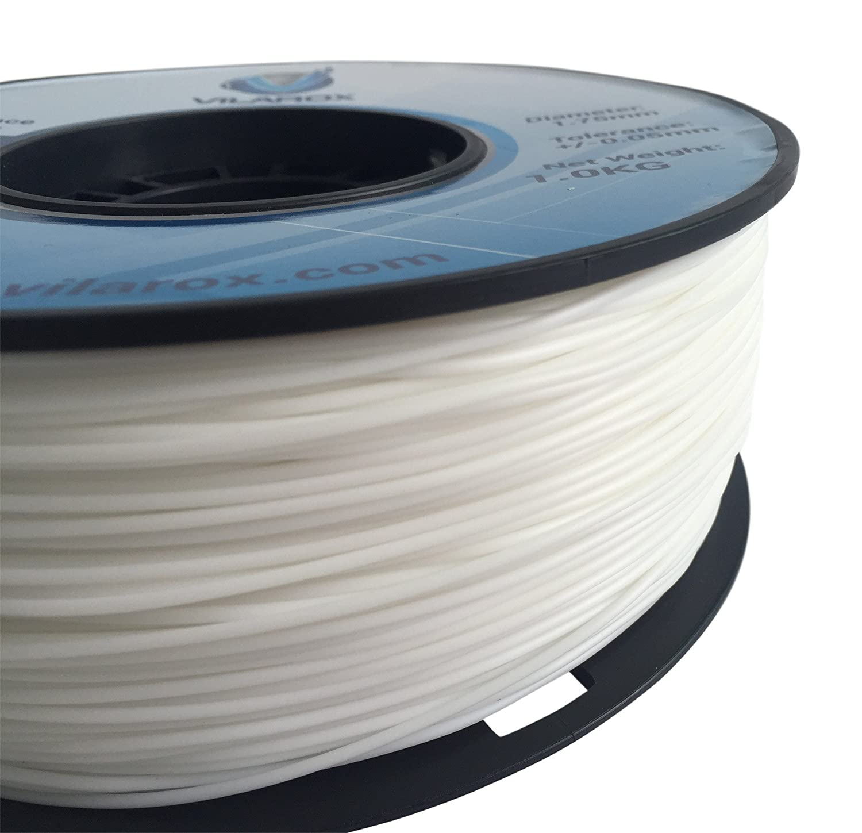 vilarox 3d impresora filamento Flexible TPE 1.75 mm 1 kg – blanco ...