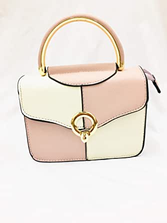 Bag For Women,White & Pink - Baguette Bags