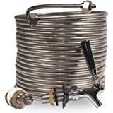 Jockey Box Conversion Kit Single Faucet, DIY Beer Keg Cooler, 3/8-inch 50' Stainless Steel Coil, Food Grade 304ss