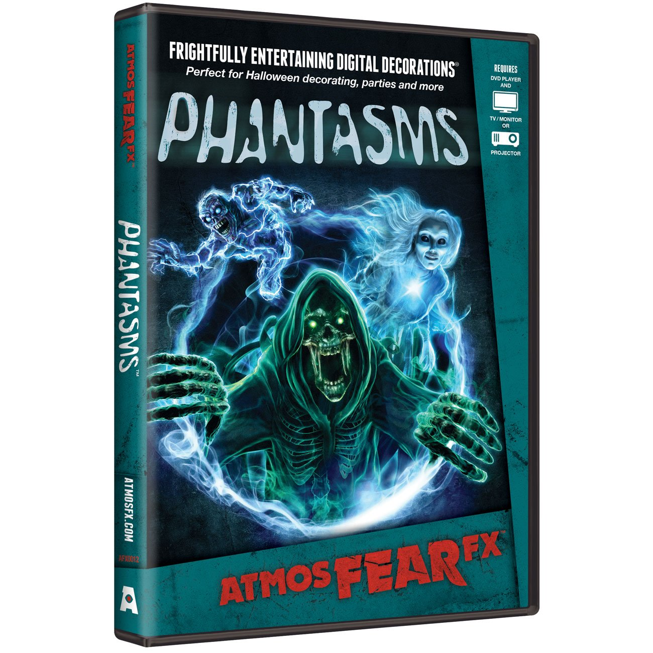 AtmosFX Phantasms Digital Decorations DVD for Halloween Holiday Projection Decorating by AtmosFX