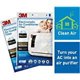 3M Anti Pollution Filter for converting AC into air Purifier (White, 2 Packs)