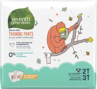 product image for Seventh Generation Free & Clear Potty Training Pants Size 2T/3T (M), up to 35 lbs 25 Count