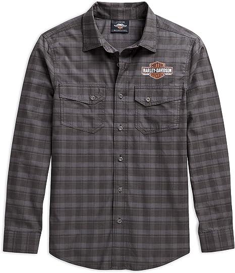 HARLEY-DAVIDSON Camisa con Logo de Cuadros texturizados, para Hombre, Gris - Gris - XX-Large: Amazon.es: Ropa y accesorios