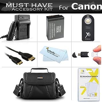 Amazon.com: Debe tener accesorios Kit para Canon EOS M3, EOS ...