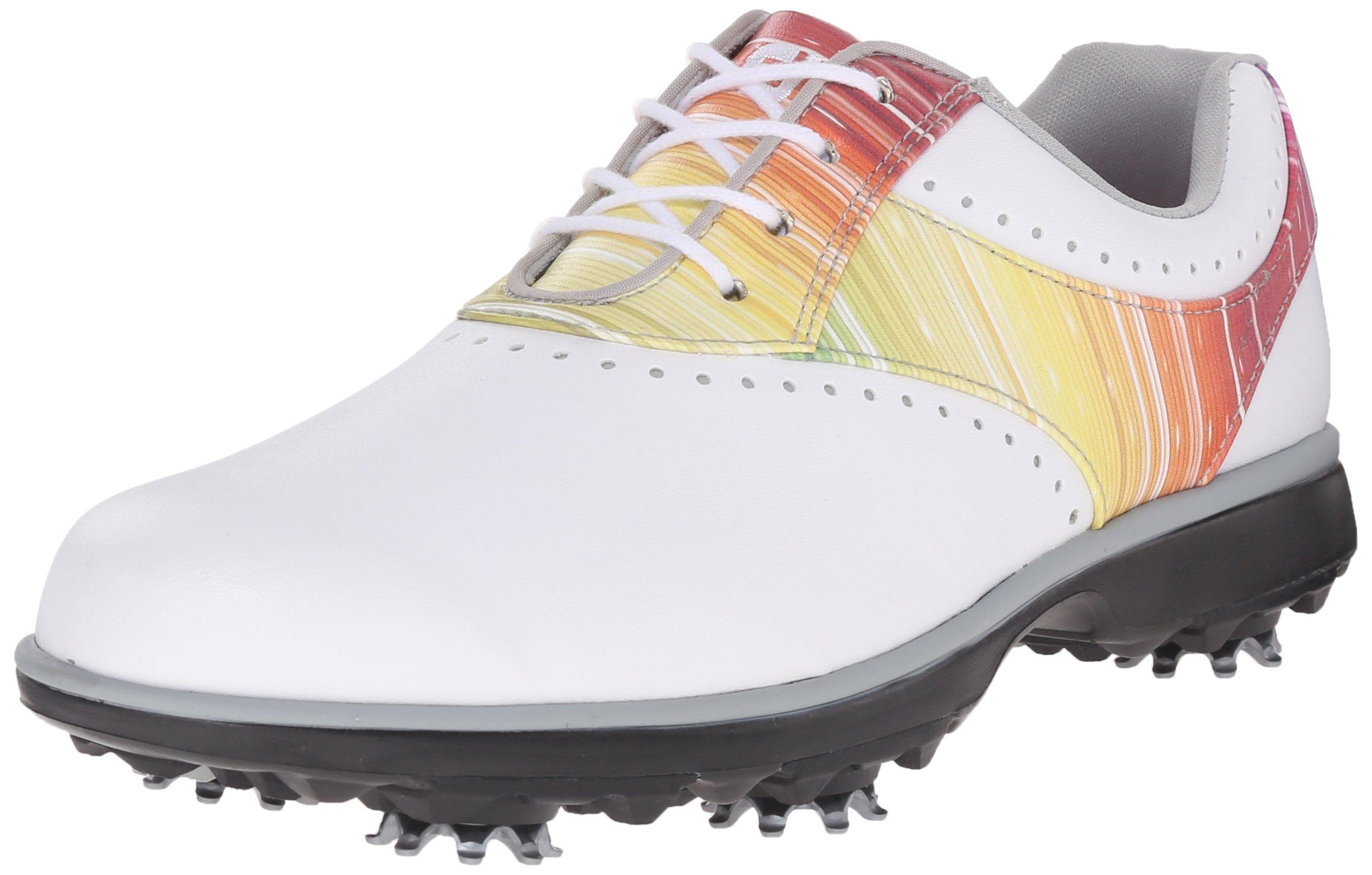 FootJoy Emerge Golf Shoes Closeout 2017 Women White/Rainbow Medium 7