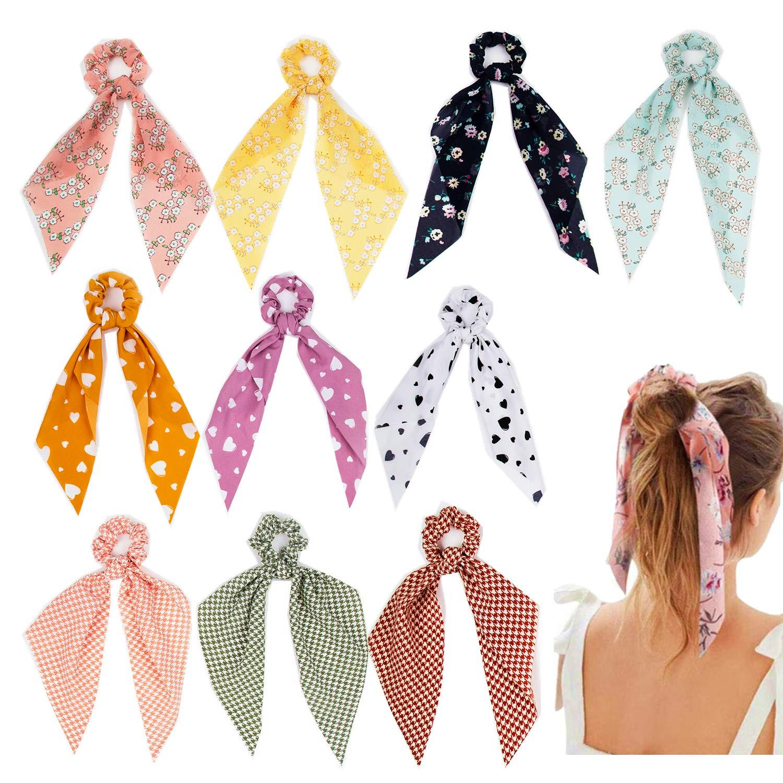 Wrist Bracelet Key Chain Ponytail Scarf Hair Tie Handbag Scarf Key Fob Purse Accessory Lobster Claw Clasp Mini Scarf Handle Tie