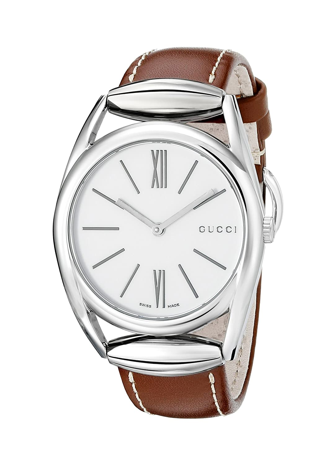 3bdce0030c70b Amazon.com  Gucci Horsebit Swiss Quartz Brown Women s Watch(Model YA140402)   Gucci  Watches