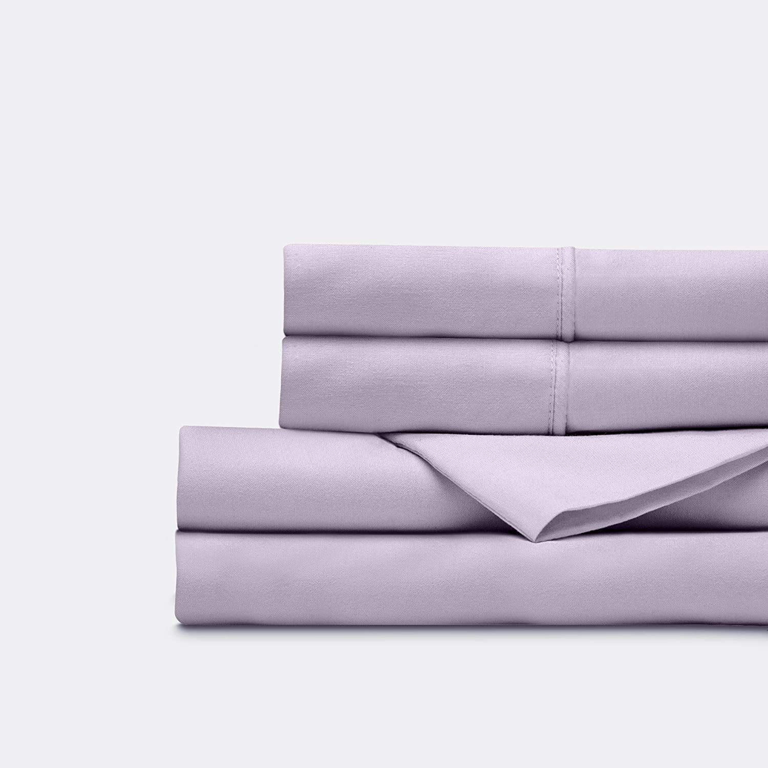 Everspread Bed Sheets (4 Piece Sheet Set), Queen Size, Lavender. Ultra-Soft & Breathable. Luxury Bedding. Deep Pockets - Fits Mattresses up to 16 inches. Hypoallergenic & Wrinkle Resistant