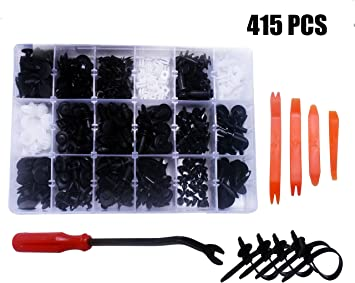 AUTEX 240 Pcs Push Retainer Kit w//Fastener Remover Assortment Universal Retainer Clips Push Type Retainers Set