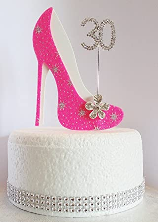 30 Geburtstag Kuchen Dekoration Schuh Mit Zahl Nicht Essbar Hot