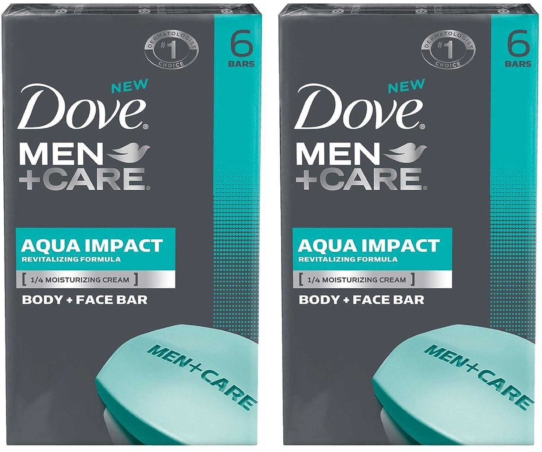 Dove Bar Soap, Men+care, Aqua Impact, 4 Oz Bars, 6 Bars Per Pack (Pack of 2)…