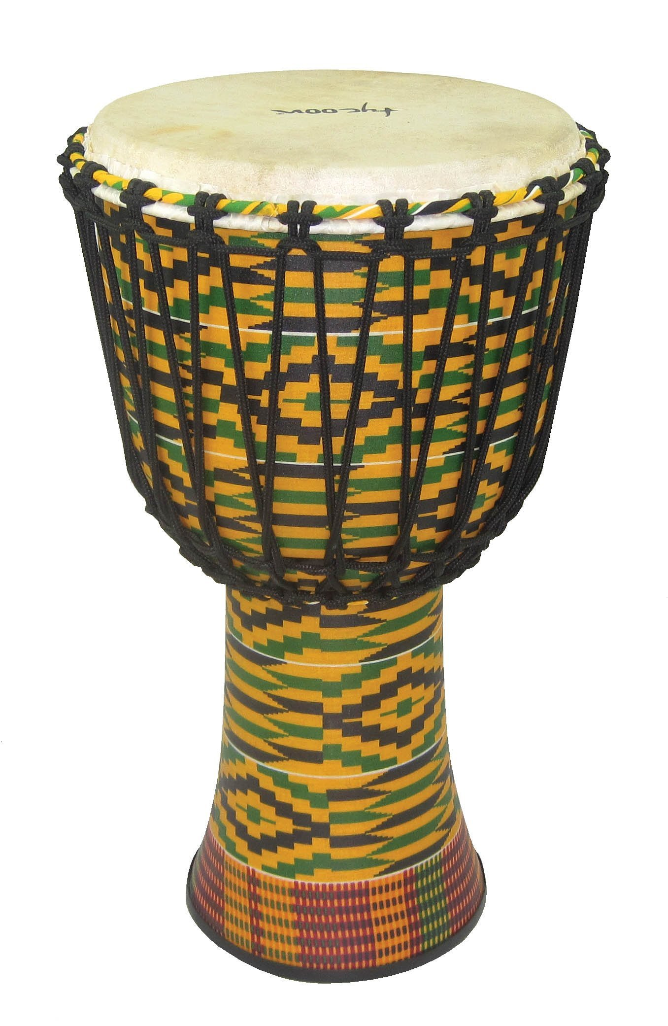 Tycoon Percussion TFAJ-10K 10 Fiberglass Rope Tuned Djembe, Kente Finish by Tycoon Percussion (Image #1)