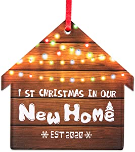 WaaHome First Christmas in Our New Home 2020 Ornaments Christmas Tree Decorations Housewarming Gifts for New Home