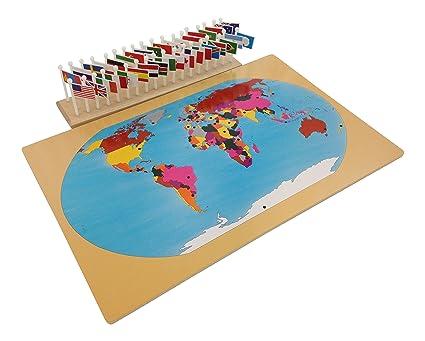 Amazon kid advance montessori world map flags and stand kid advance montessori world map flags and stand gumiabroncs Choice Image