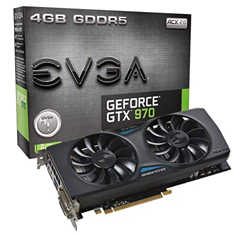 EVGA Geforce GTX 970 - Tarjeta gráfica (NVIDIA, GeForce GTX 970 ...