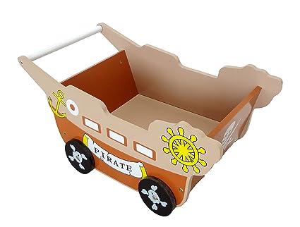 Bebe Style - Carrito andador de bebé, diseño de barco pirata