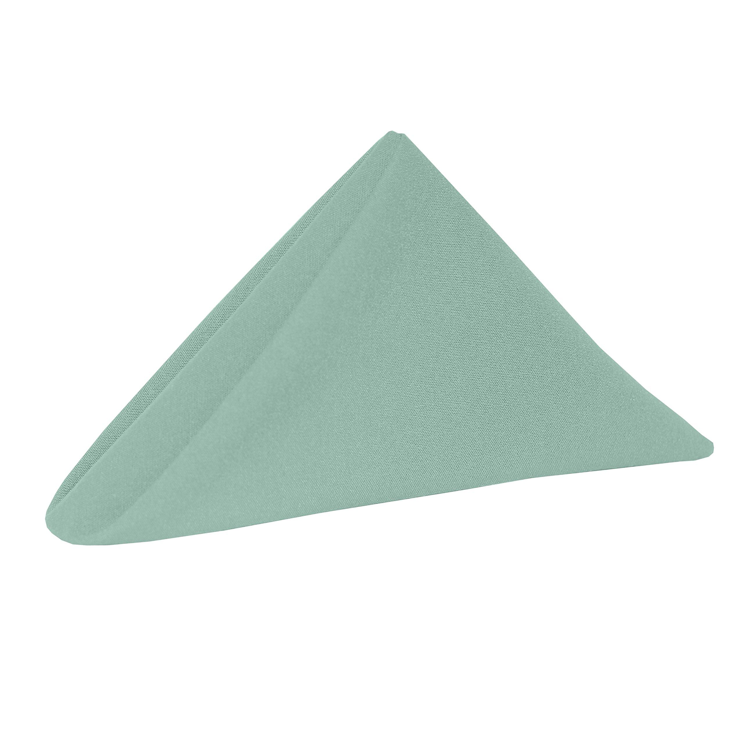 Ultimate Textile -10 Dozen- Cotton-Feel 17 x 17-Inch Cloth Napkins, Seamist Light Green