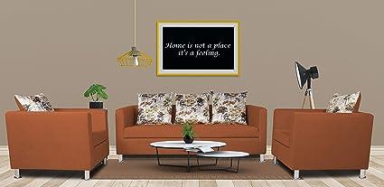 Remarkable Adorn India Alita 3 1 1 Compact 5 Seater Sofa Set Rust Creativecarmelina Interior Chair Design Creativecarmelinacom