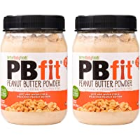 PBfit All-Natural Peanut Butter Powder, 225g (Pack of 2) Peanut Butter Powder from Real Roasted Pressed Peanuts, High in Protein, Natural Ingredients