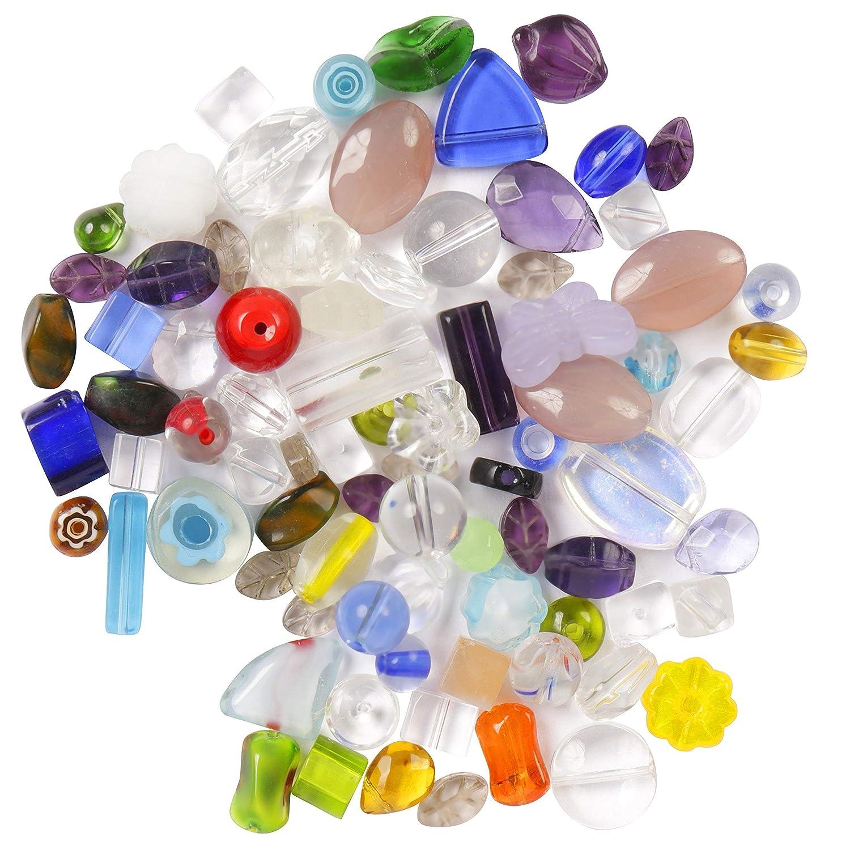 30 Glasschliffperlen 6 mm bunt gemischt