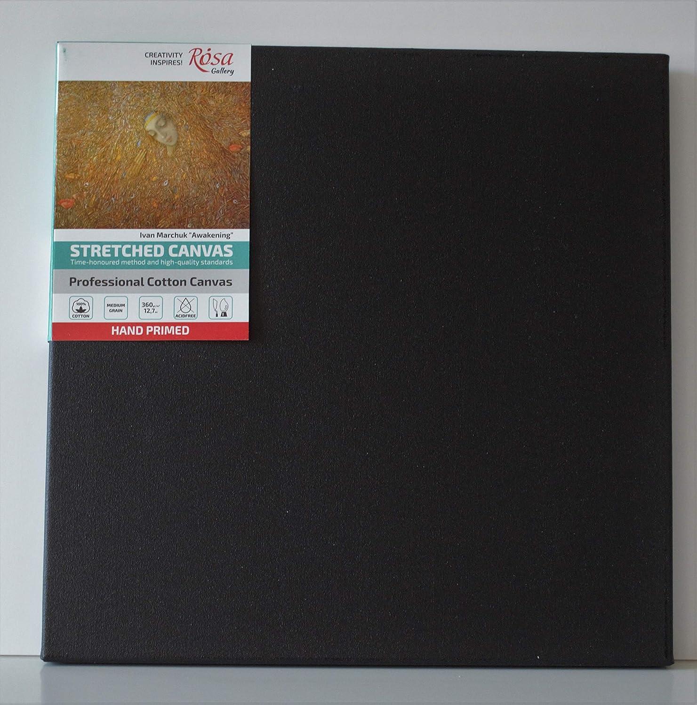Black Stretched Canvas 30 x 30 cm