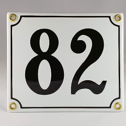 BBV Emaille - Cartel (Número de Casa 50 - 99 azul de color ...