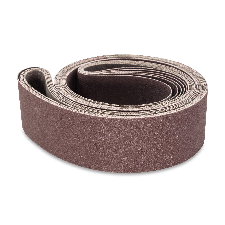 2 X 72 Inch 36 Grit Aluminum Oxide Metal Sanding Belts, 6 Pack by Red Label Abrasives
